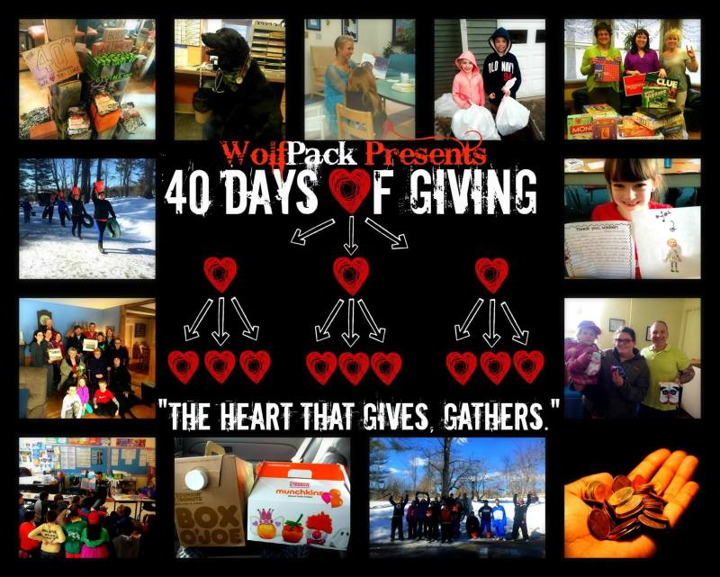WolfPack Fitness #40DaysOfGiving