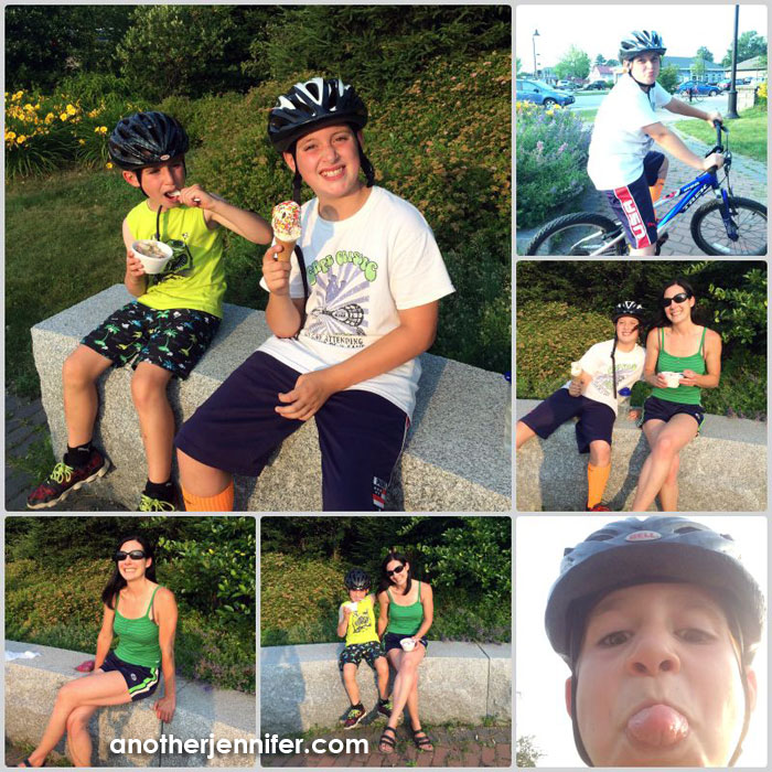 Wordless Wednesday (7.15.15): Ice Cream for Dinner Collage