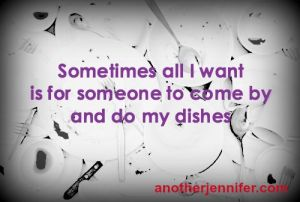 a haiku about dishes