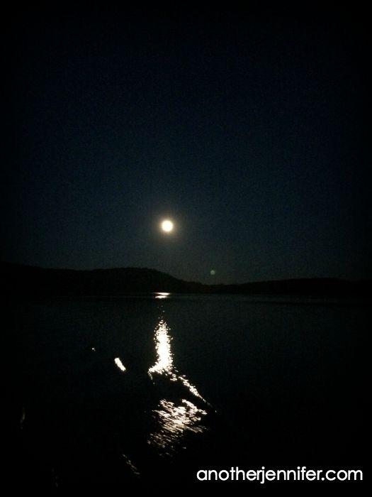 moonlight over water