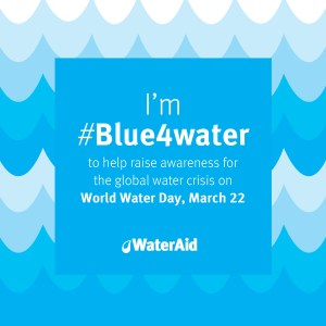 Wordless Wednesday: Gearing Up for World Water Day #Blue4Water