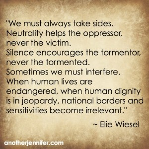 Elie Wiesel neutrality quote