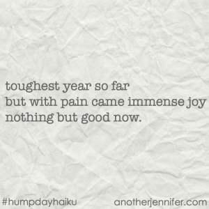 Hump Day Haiku: Nothing But Good Now #goodbye2017