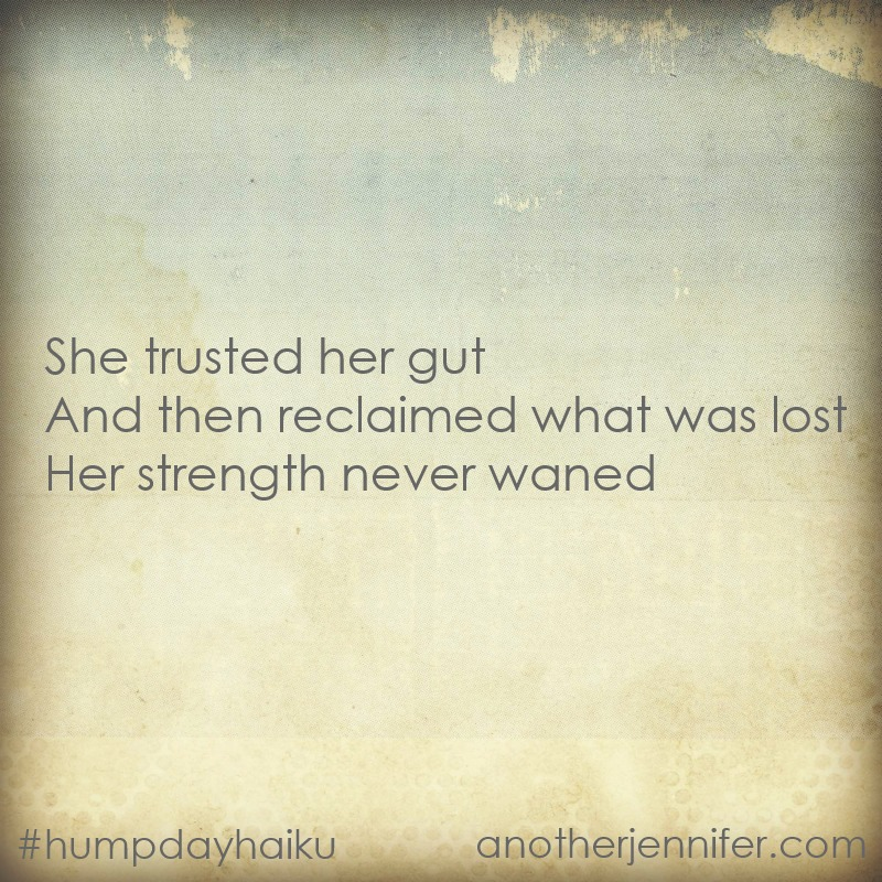 trusted her gut haiku