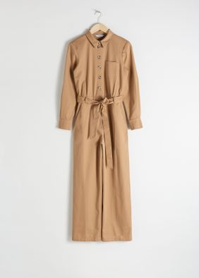 Belted Cotton Boilersuit ($99)
