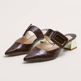 Mango Croc-Effect Shoes ($80)