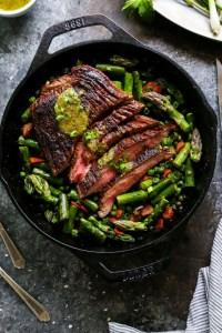 One Skillet Steak and Vegetables