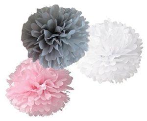 Floral Nursery Tisse Paper Pom Poms