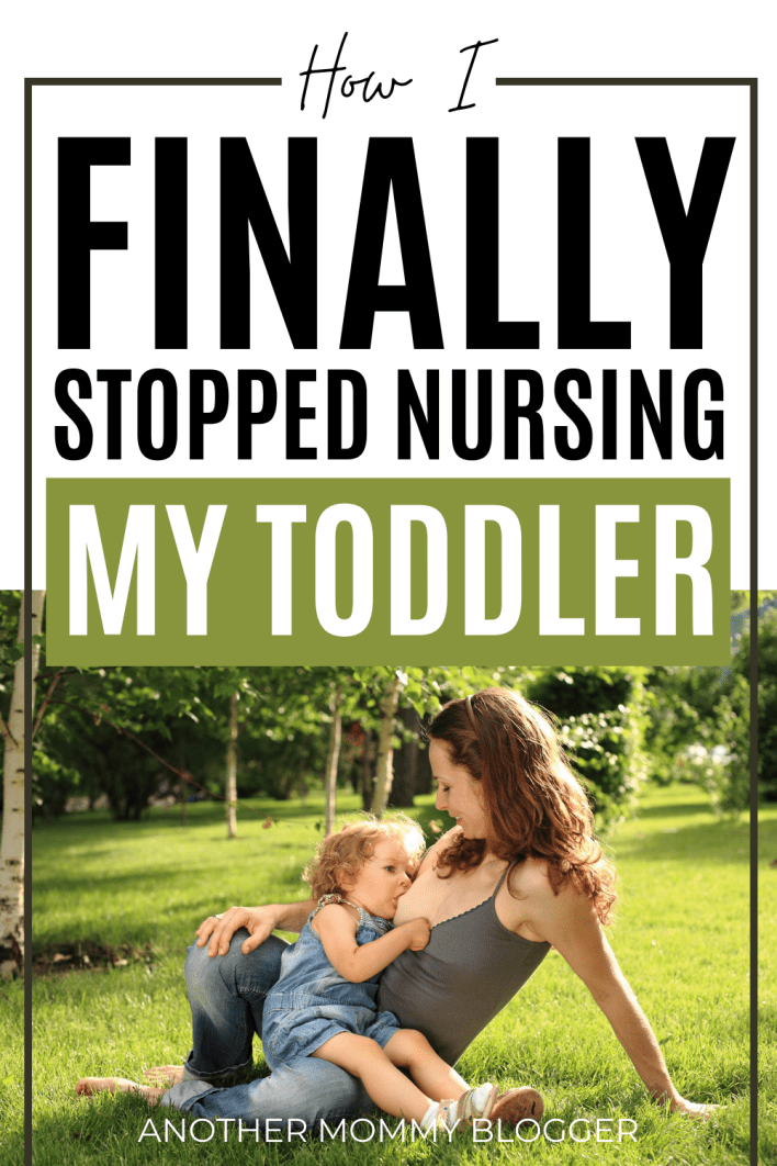 Weaning a toddler from breastfeeding isn't always easy. Get my weaning tips and learn how to stop nursing your toddler the easy way. #breastfeeding
