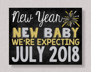 New Years Pregnancy Announcement Sign