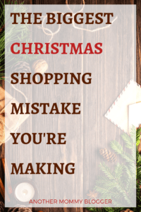 The Biggest Christmas Shopping Mistake You're Making