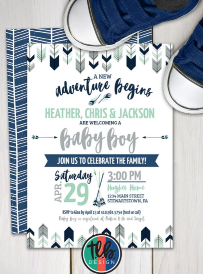 Tribal Arrow Baby Shower Themes For Boys