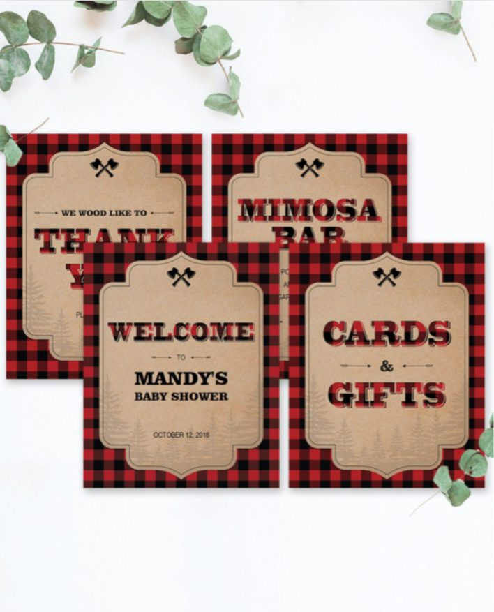 Lumberjack Baby Shower Themes For Boys