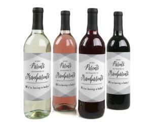 Wine label pregnancy announcement