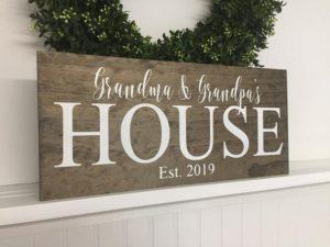 Grandparents wooden sign