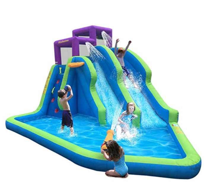 Kids outdoor toys inflatable pool with slide