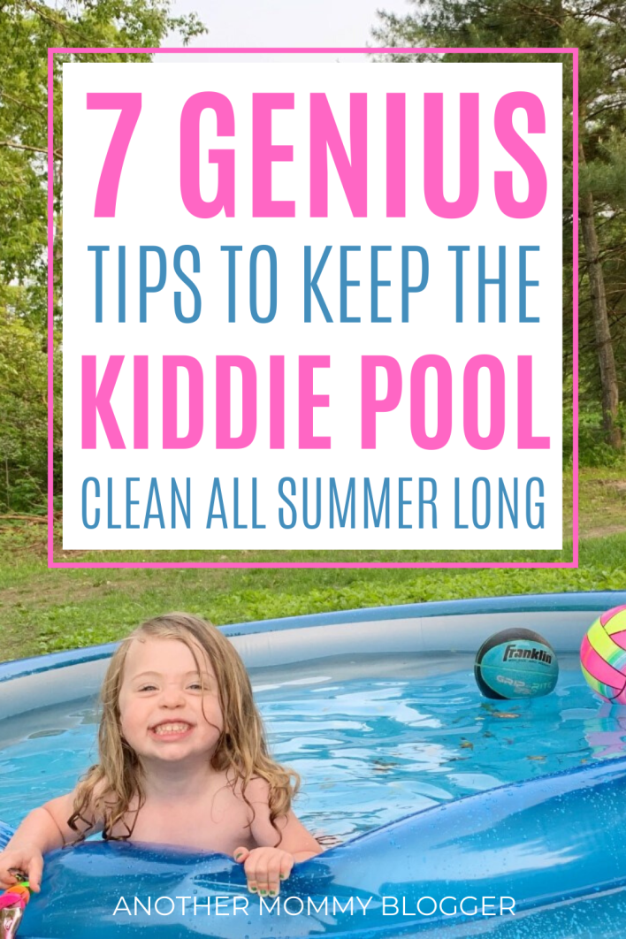 Clever cleaning tips to keep the kiddie pool clean all summer. #cleaning #kids