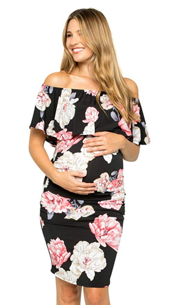 Fitting Floral Pregnancy Dress