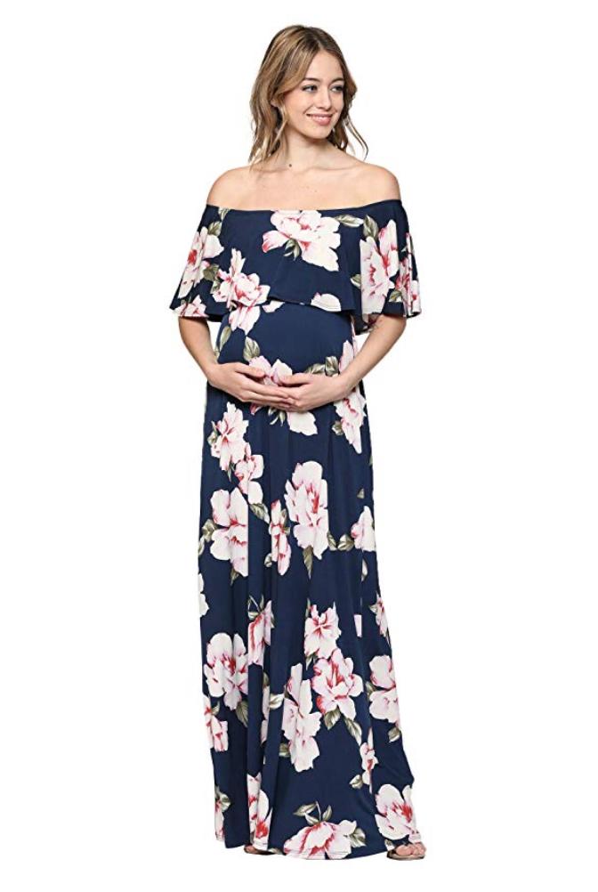 Off The Shoulder Maxi Maternity Dresses