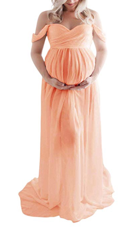 Peach Maternity Gown
