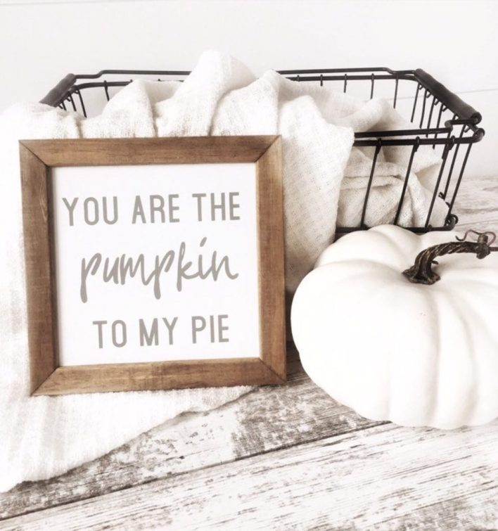 You Are The Pumpkin To My Pie Fall Sign