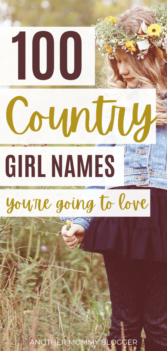 Looking for a beautiful southern name for your little country girl. Check out this baby girl name list. #babygirlnames