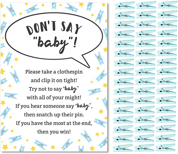 Don't Say Baby Baby Shower Game