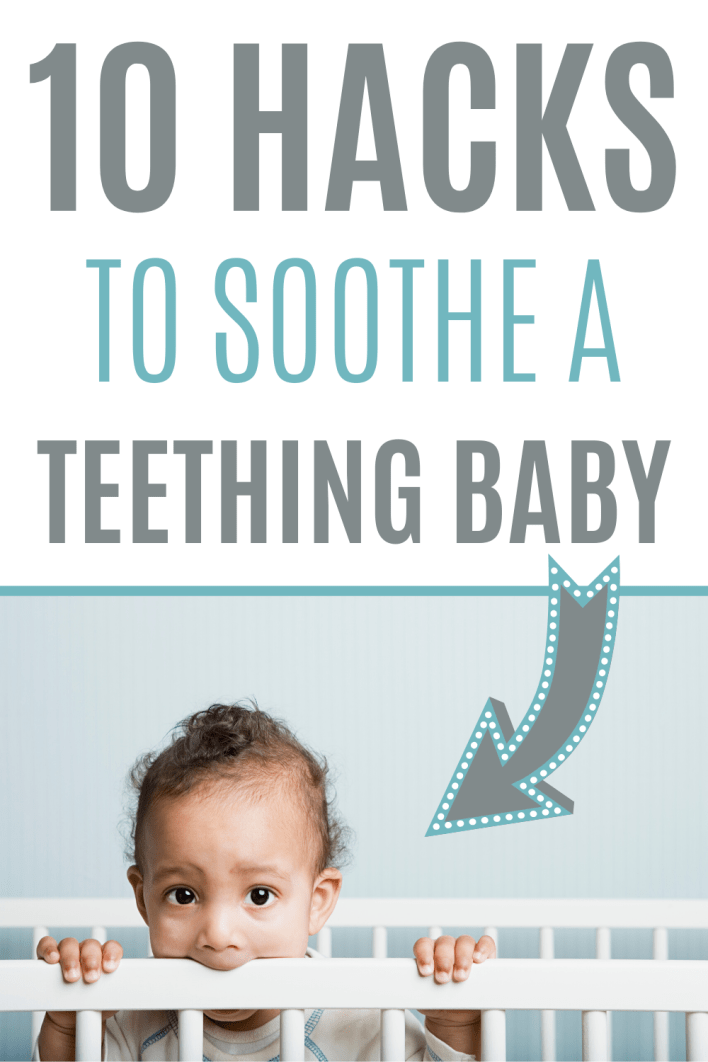 Use these teething baby remedies to soothe a teething baby fast. #babytips