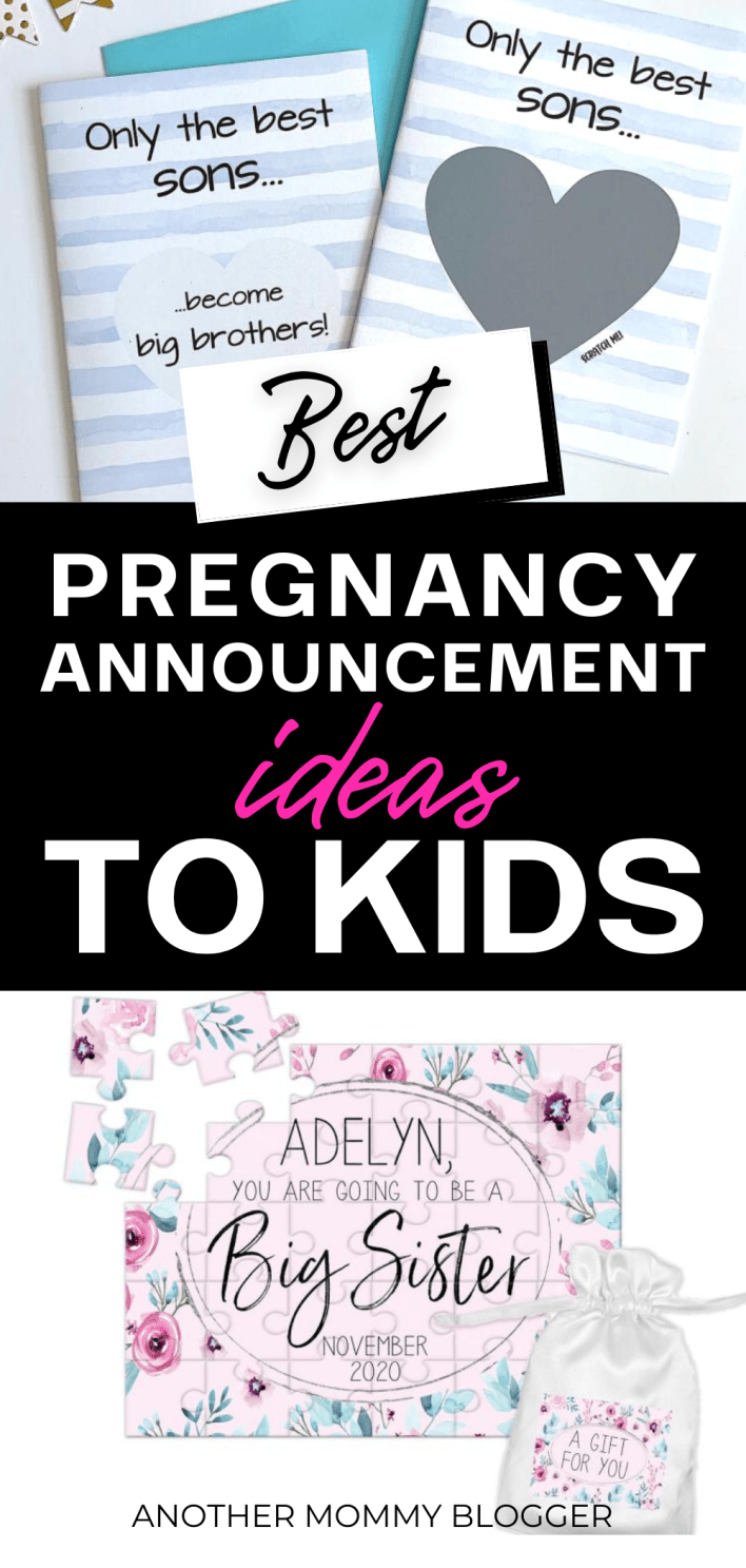 These are creative ideas to announce your pregnancy to your kids. See this list of fun baby announcement ideas to kids for telling your kids you're pregnant.