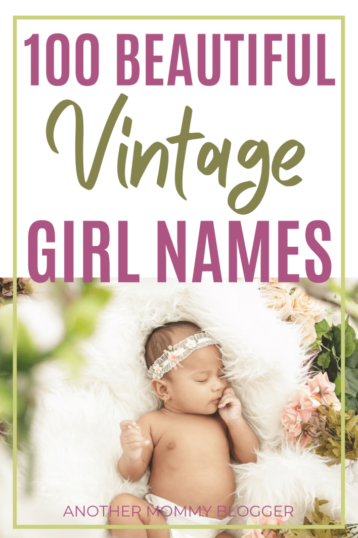 Parents who love old-fashioned names are falling in love with these beautiful vintage baby girl names. #babygirlnames #vintage