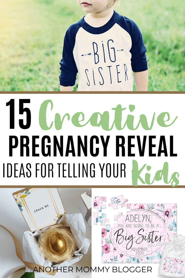 Tell your kids you're pregnant with one of these creative pregnancy announcements for brothers and sisters. #pregnancy #announcements