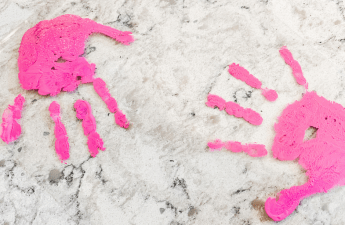 DIY Kids Handprint Keychains