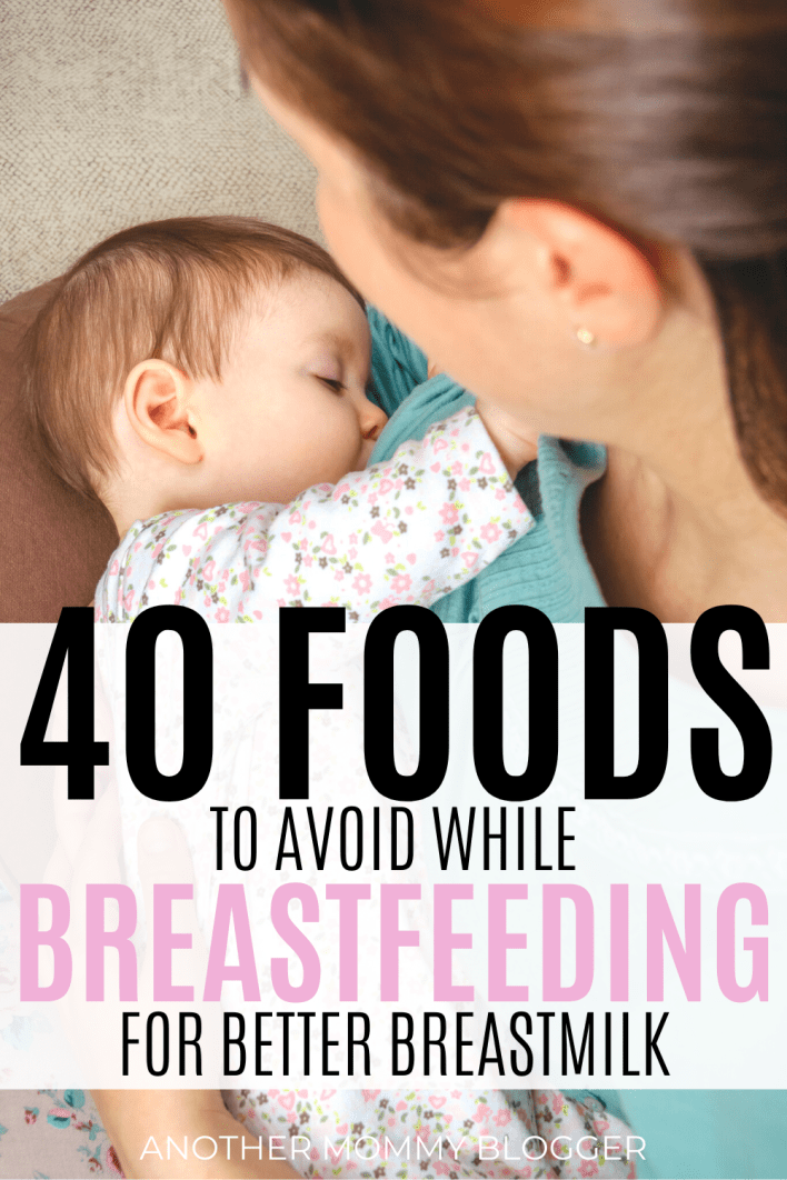 Avoid these foods while breastfeeding to prevent baby reflux, gas, and to help baby sleep. #babytips #breastfeeding