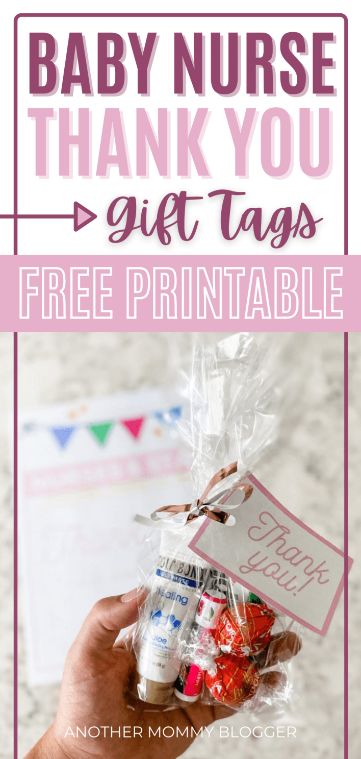 These are gift ideas for labor and delivery nurses. Ideas for what to put in their gift bags and free printable thank you gift tags. #pregnancy