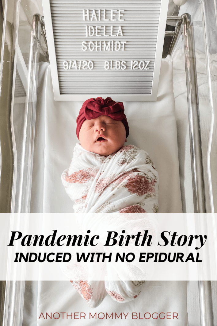 This is my pandemic birth story. An induction with no epidural. #birthstories #pandemicbirth #noepidural
