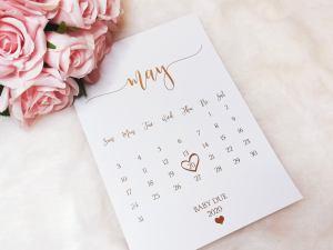 Calendar Pregnancy Announcement