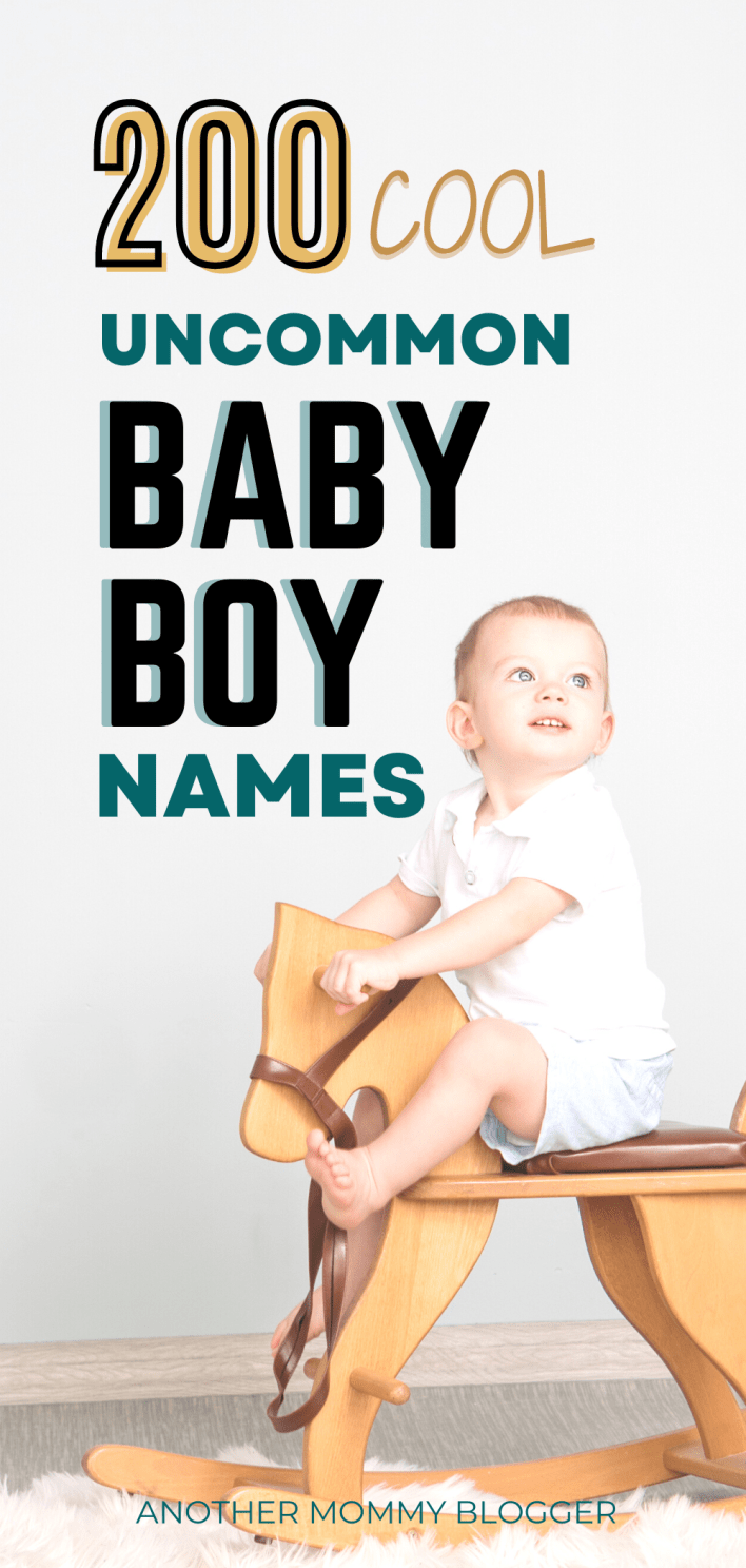 Look at this cool baby boy names list of unique boy names with meaning. There are over 200 rare boy names. If you're looking for uncommon names for boys you'll find the perfect one here.