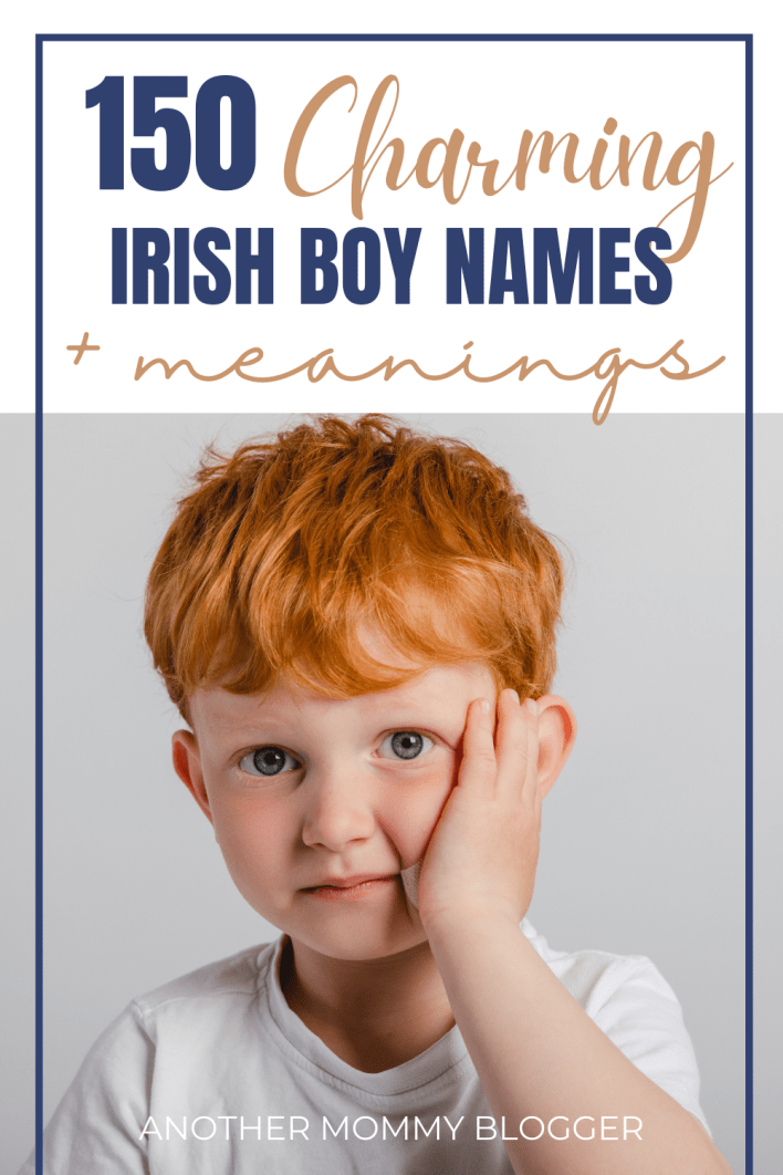 Looking for unique Irish names for boys. These Irish baby boy names with meanings are so charming.