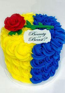 Beauty or Beast Gender Reveal Cake