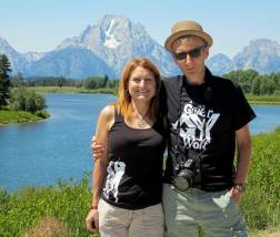 Denise and her husband Barry at Jackson Lake.
