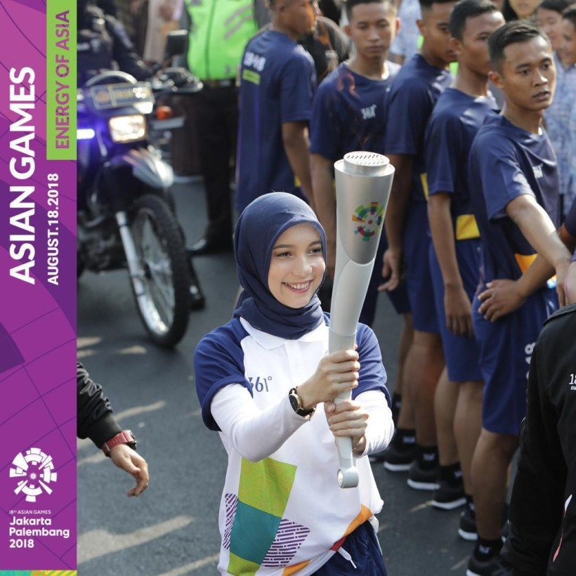 jenahara torch relay asian games XVIII jogja