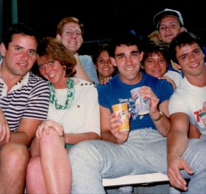 Here we are during our senior year at Marquette in 1986...