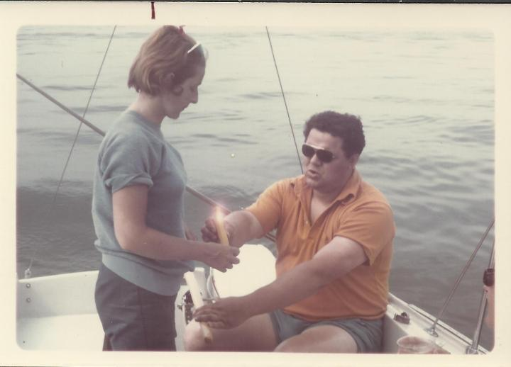 Dad and Mom fishing 1967