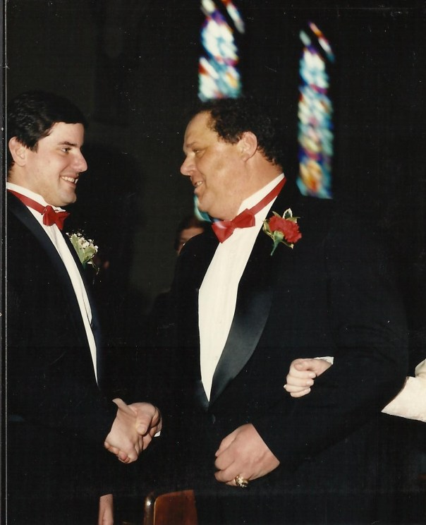 Dad and Vince wedding