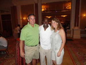 Vince and I were lucky enough to attend the Donald Driver Golf Outing this summer in Law Vegas. Cleary two of our little party of three have learned to look toward the camera and smile.