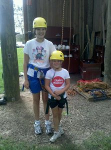 Molly and Kelly were two of the first people to test out the AASD ropes course in 2010.
