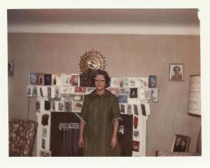 Grabdma used to decorate her fireplace with Christmas cards. She was a style icon.