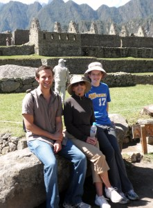 Vinnie Grandma Peggy and I at Machu Picchu, our biggest adventure yet!