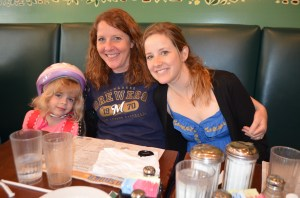 Saturday morning breakfast with the patient and her cute cousin Erin.
