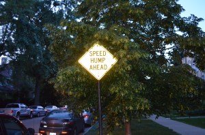 """Is it just me or is there a typo in this street sign around the corner from her house? I thought it was hilarious and earned a """"What are you, twelve?"""" reprimand from Katherine."""